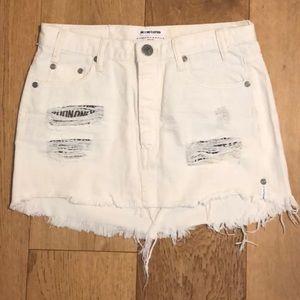 White One Teaspoon Mini Skirt